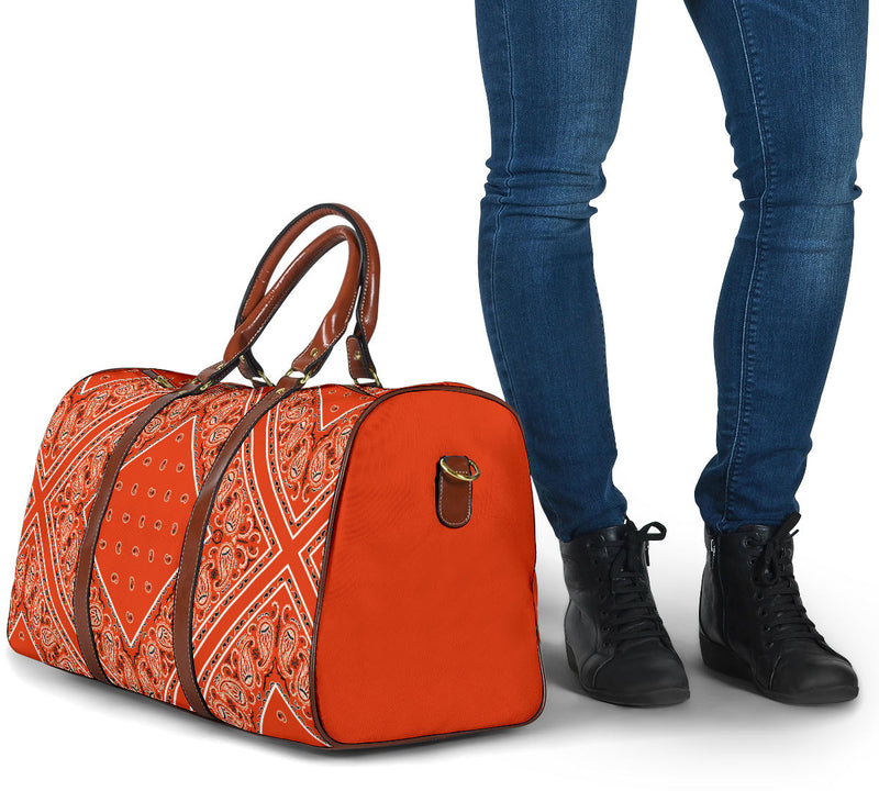 Perfect Orange Bandana Travel Bag