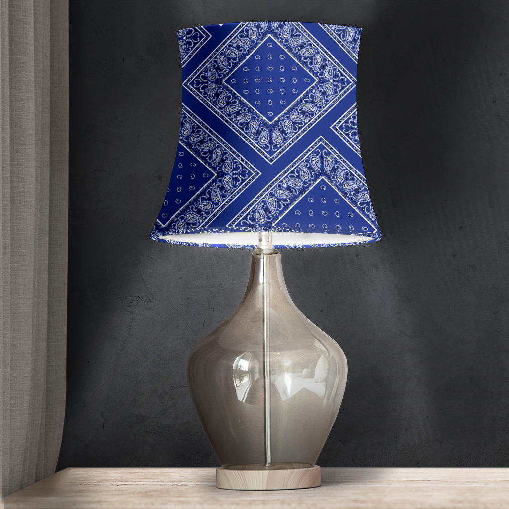 Royal Blue Bandana Drum Lampshade