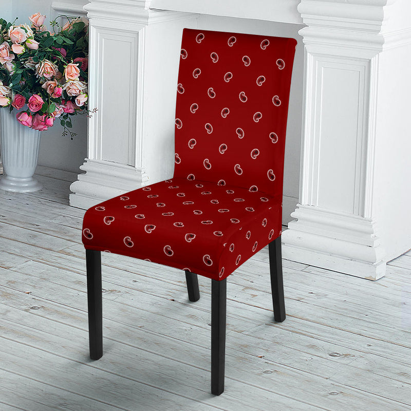 Maroon Red Bandana Dining Chair Covers - 4 Pattens