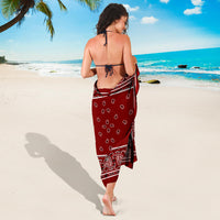 Maroon Red Bandana Sarongs