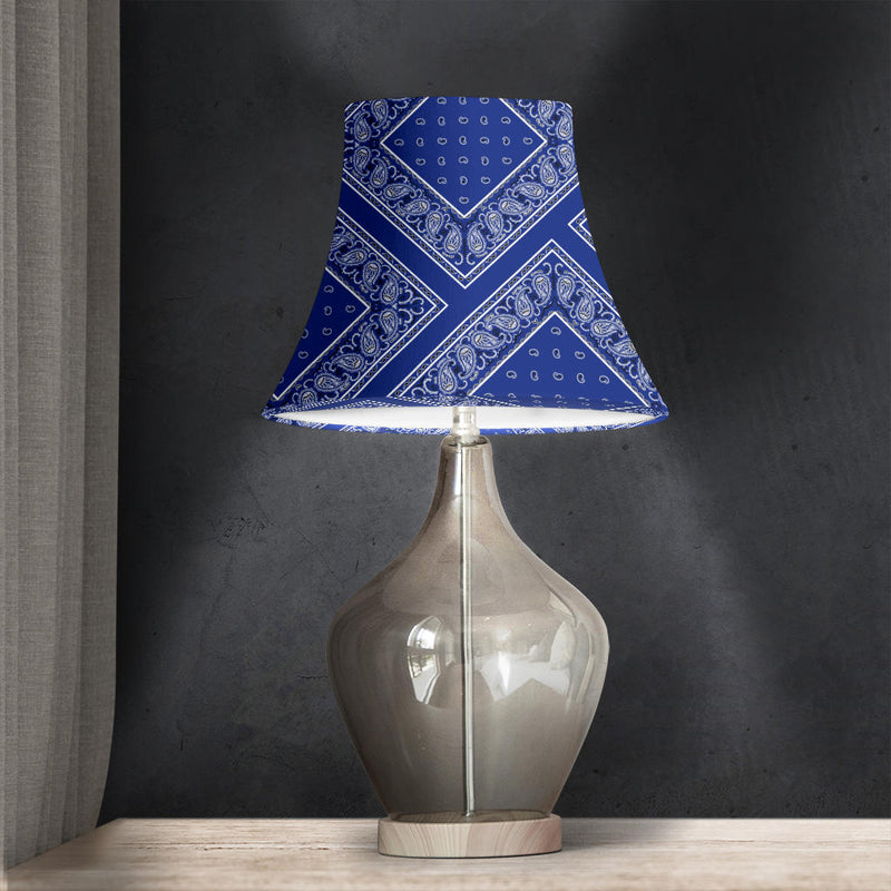 Royal Blue Bandana Bell Lampshade