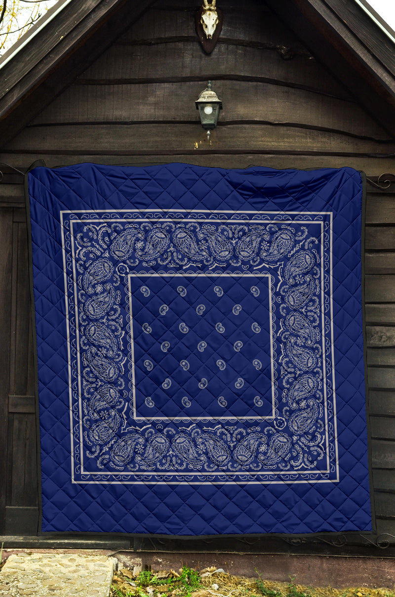 Blue and Gray Bandana Quilt