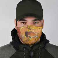 American Bison painting on Face Mask
