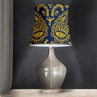 Navy Blue Drum Lampshade