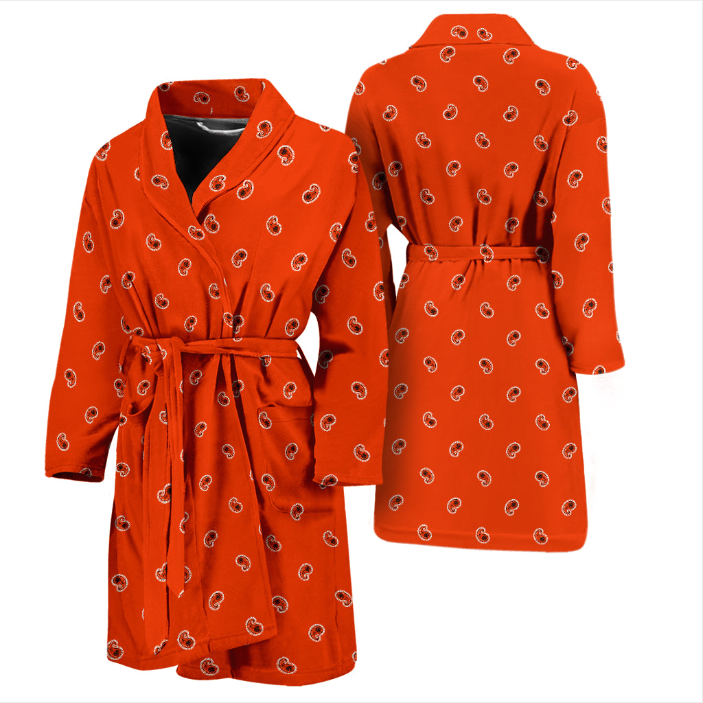 orange bandana bathrobe for men