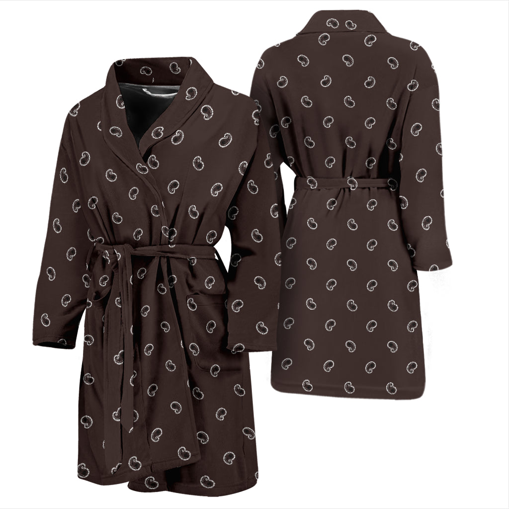 brown bandana paisley bathrobe