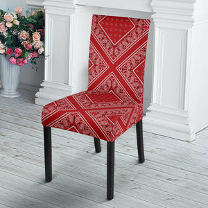 Red Bandana Dining Chair Slipcovers