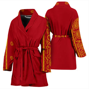 red and gold bandana robes