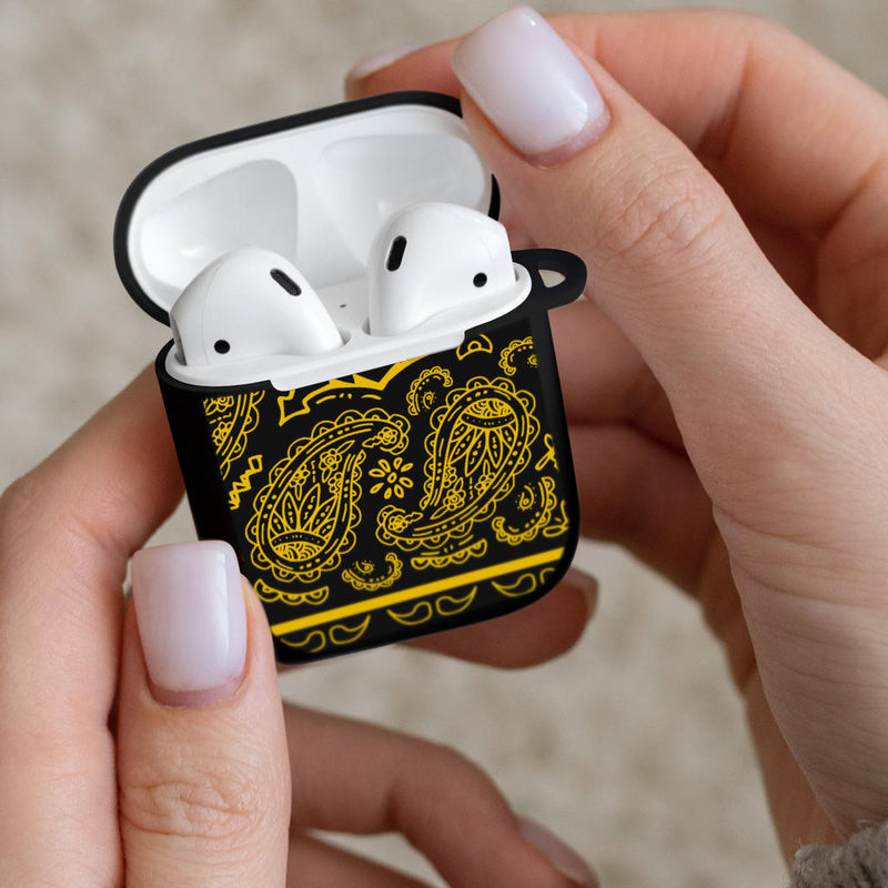 black and yellow bandana AirPod Gen 1 Case Cover