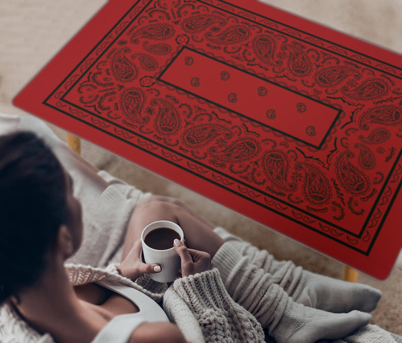 Red and Black Bandana Coffee Tables