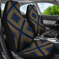 Navy and Gold Bandana Car Seat Covers