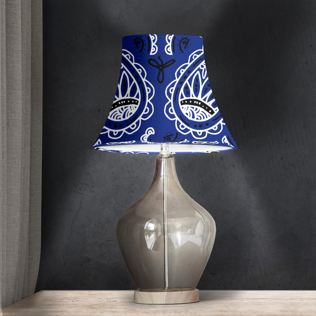 Royal Blue Paisley Bell Lampshad