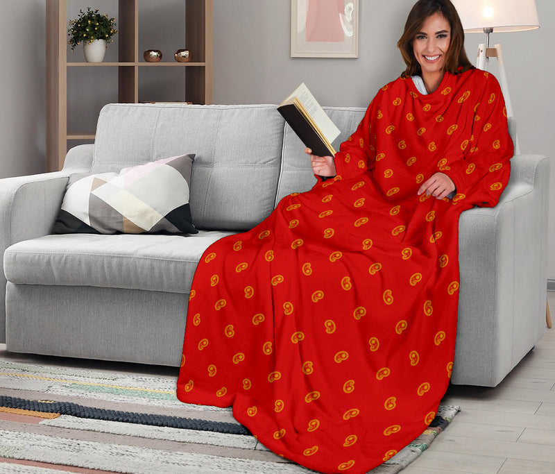 Red and Gold Bandana Monk Blankets