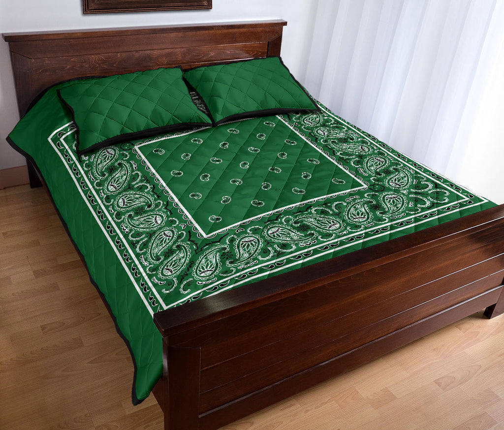 green money bandana bedspread set