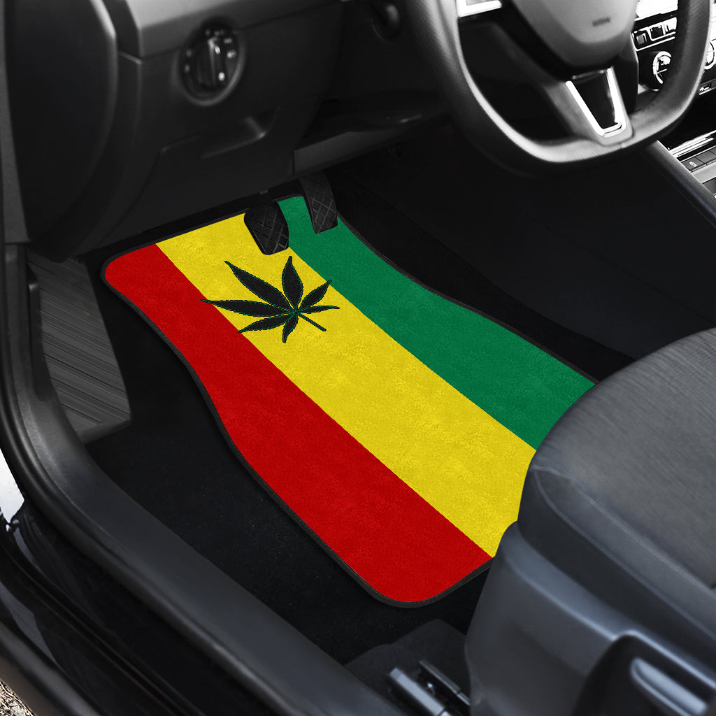 Rasta Marijuana Car Floor Mats Set of 4