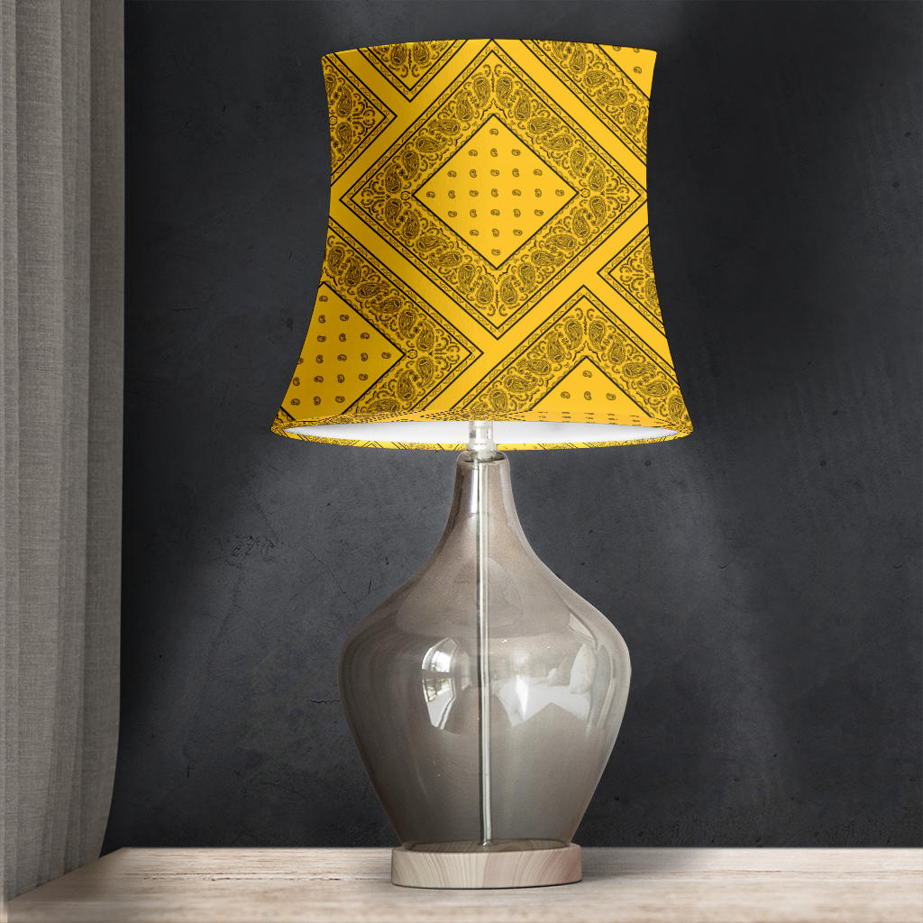 Gold Bandana Drum Lampshades