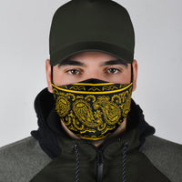 Edge Black Gold Bandana Face Mask