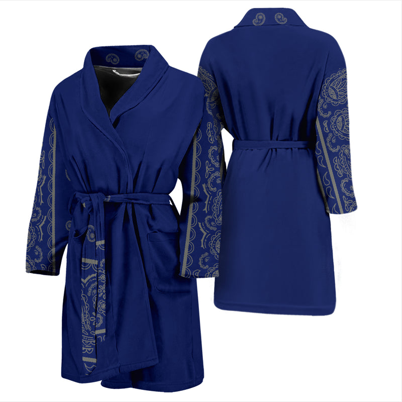 blue and gray bandana robe