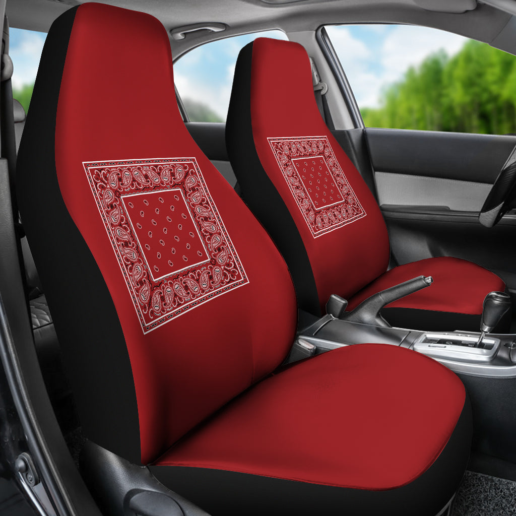 Red bandana car seat cover