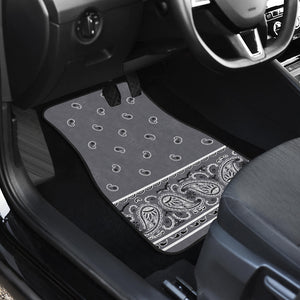 Dual Classic Gray Bandana Car Mats - Fancy