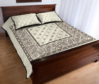 cream beige bedding set with bandana print