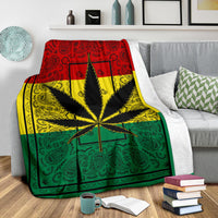 Rasta 420 Bandana Fleece Throw Blanket