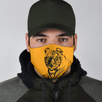 green eyed tiger covid face mask