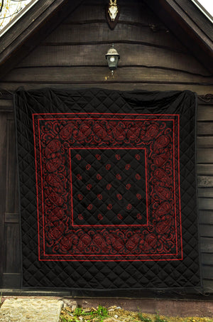 Black and Red Bandana Quilt