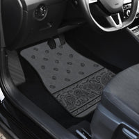 Dual Gray and Black Bandana Car Mats - Fancy