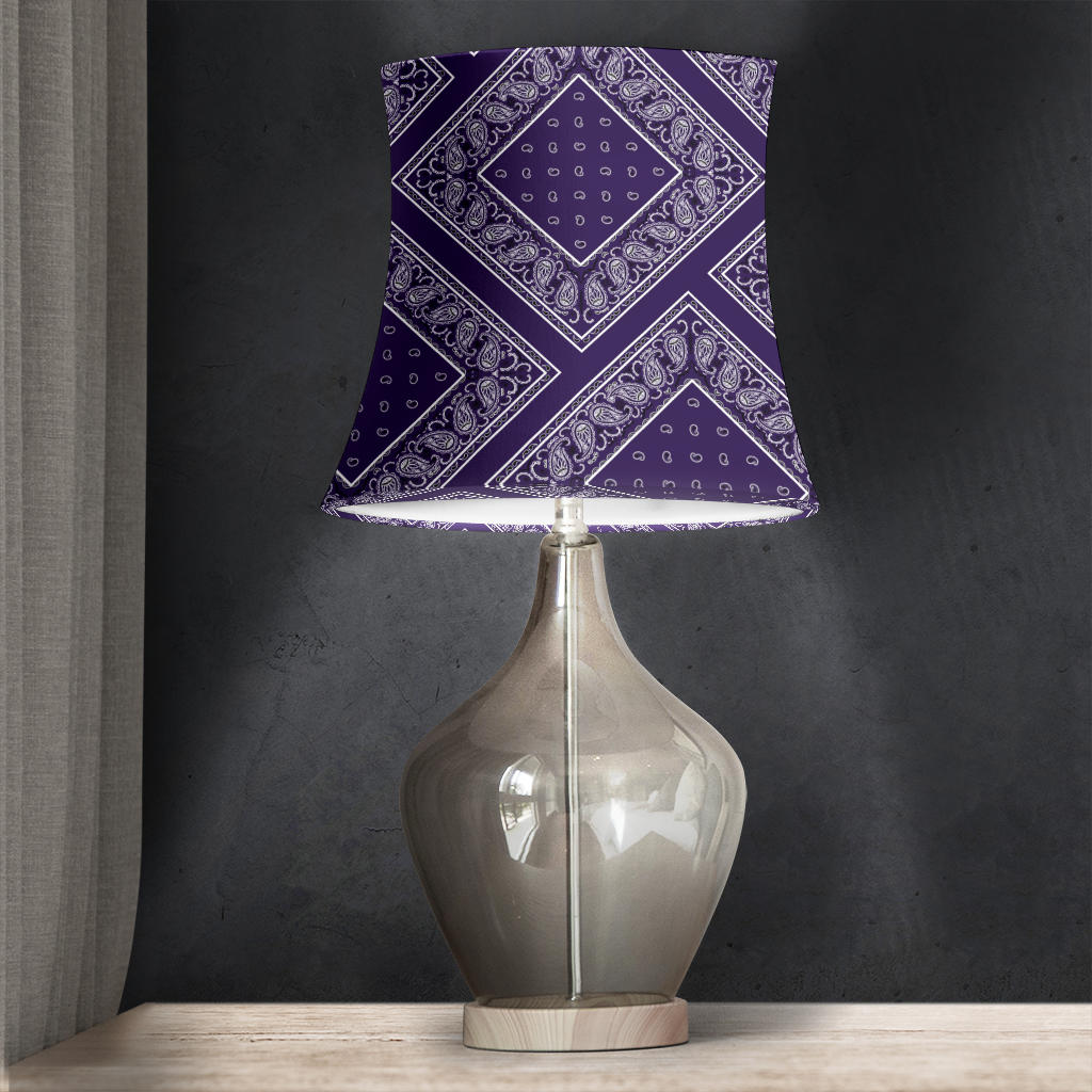 Royal Purple Bandana Drum Lampshade
