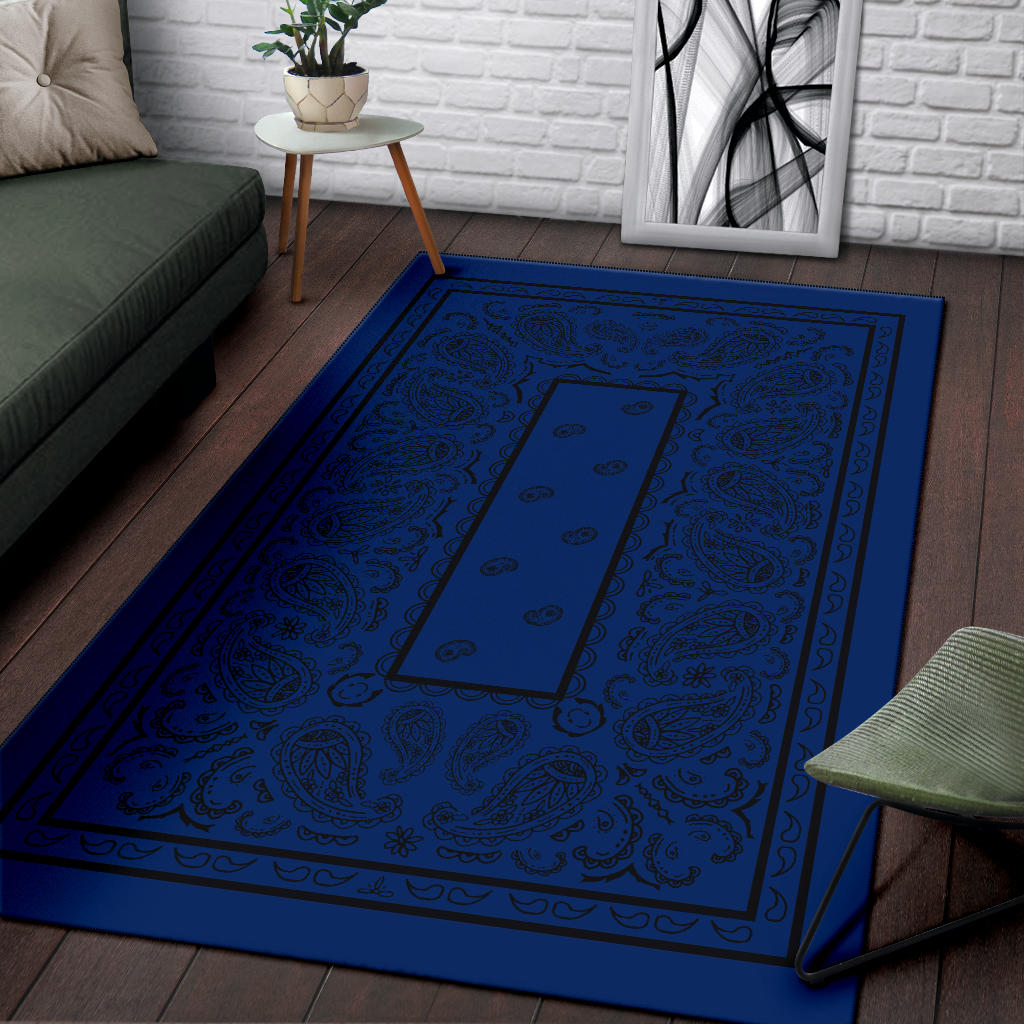 blue throw carpets