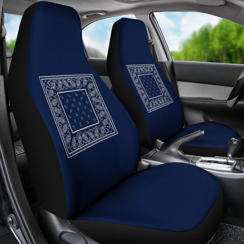 navy blue bucket seat cover