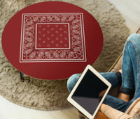 Maroon Bandana Round Coffee Tables
