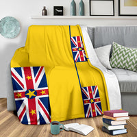 Niue Flag Fleece Throw Blanket