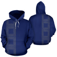 blue gray bandana pullover hoodie