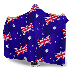 Ultimate Australia Flag Tiled Hooded Blanket