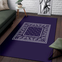 Royal Purple Bandana Area Rugs - Minimal