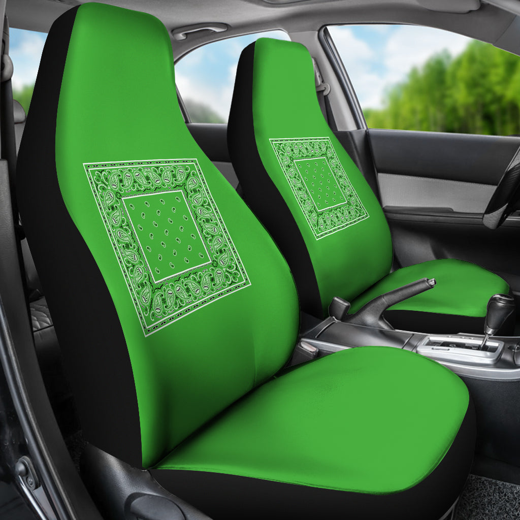 lime green car seat cover