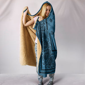 Blue Bandana Hooded Blanket