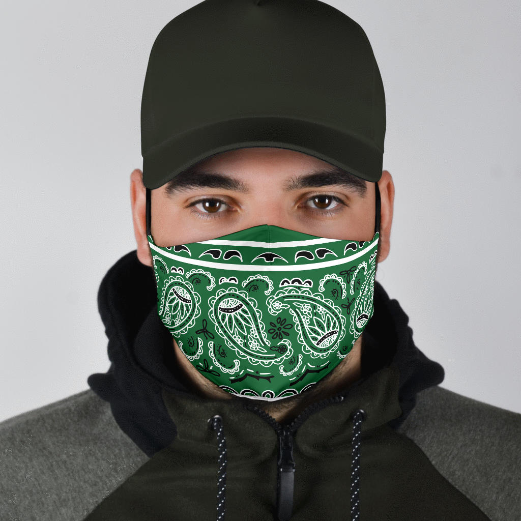 Edge Classic Green Bandana Face Mask