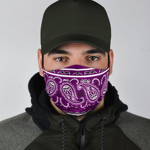 Edge Wild Plum Bandana Face Mask