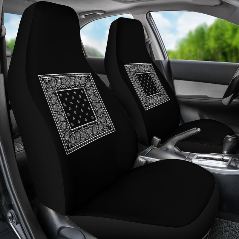 Black car seat cover