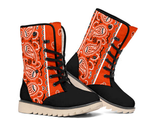orange bandana winter boots