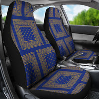 Blue Gold Bandana Car Seat Cover - Patch