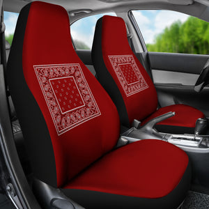 maroon bucket seat covers