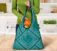 Teal Bandana Grocery Bag 3-Pack