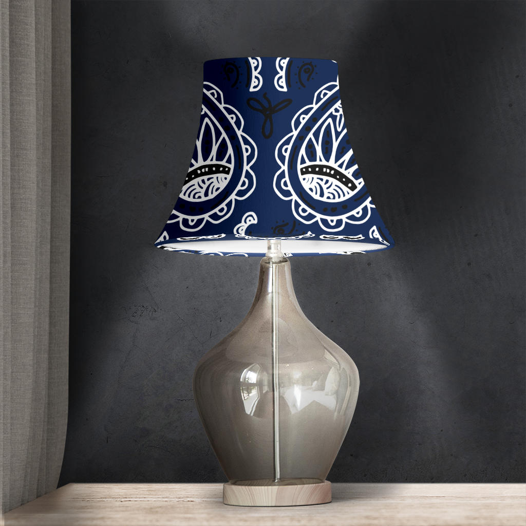 Navy Blue Bell Lampshade