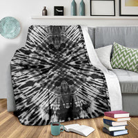 Abyss Tie Dye Fleece Throw