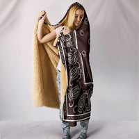 Brown Bandana Hooded Blanket front