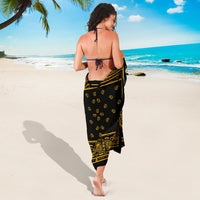 Black Gold Bandana Beach Coverups